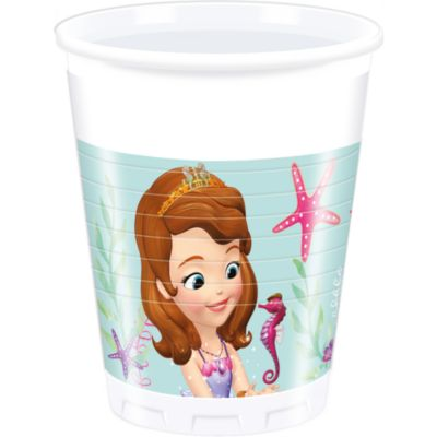 Sofia la Principessa, 8 bicchieri di plastica