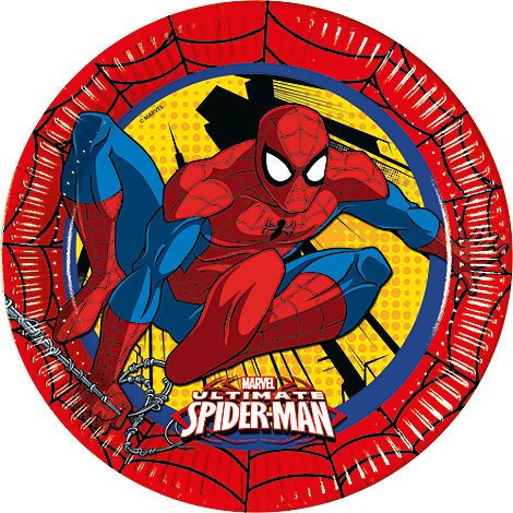Spider-Man - 8 x Pappteller