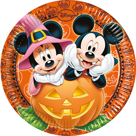 Micky und Minnie Maus - 8 x Halloween Pappteller