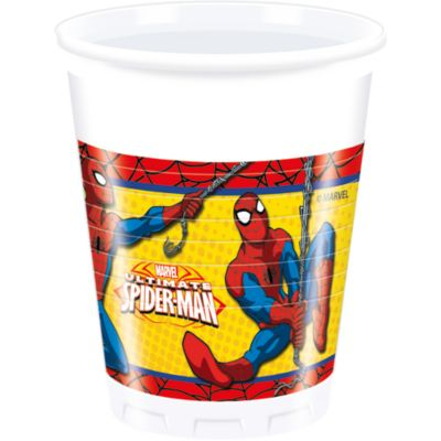 8 gobelets de fête Spider-Man
