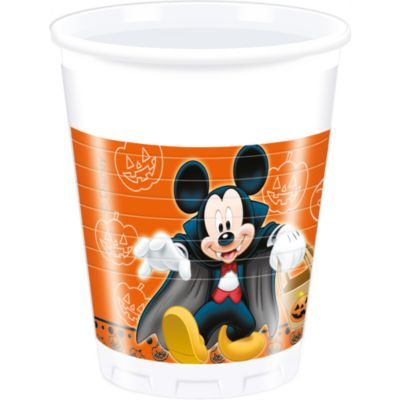 Mickey and Minnie Mouse 8x Halloween Party Cup Set