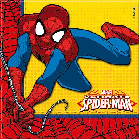 20 serviettes de fête Spider-Man
