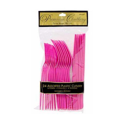Pink Cutlery 24 Piece Set