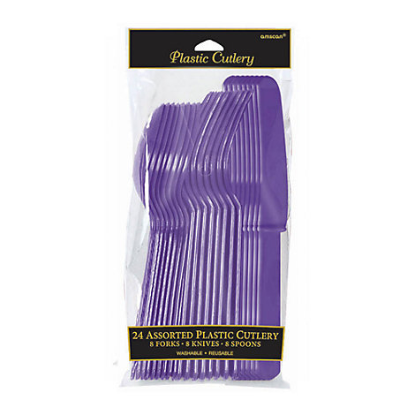 Purple Cutlery 24 Piece Set