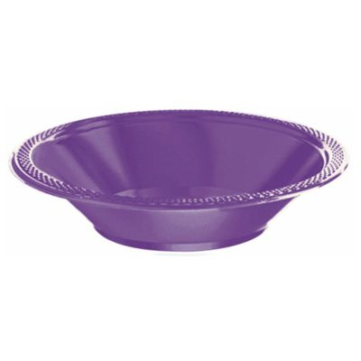 Lot de 20 assiettes creuses de fête violettes