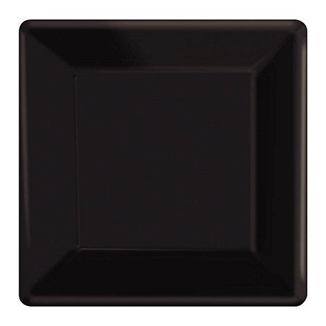 Black 20x Square Party Plates Set