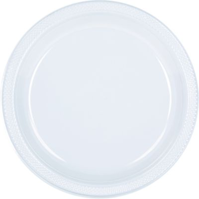 Clear 20x Square Party Plates Set