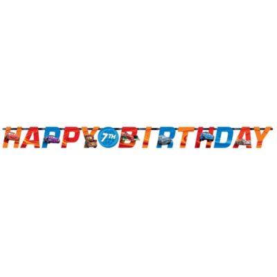 Disney Pixar Cars, festone Happy birthday personalizzato