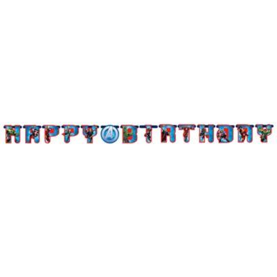 Cartel feliz cumplea¤os personalizado, Los Vengadores