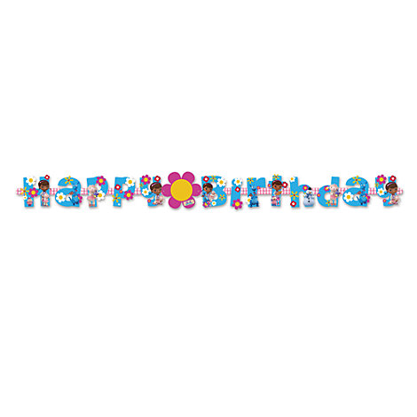 Dottoressa Peluche, festone di compleanno personalizzabile