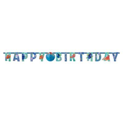 Alla Ricerca di Dory, festone Happy Birthday personalizzabile