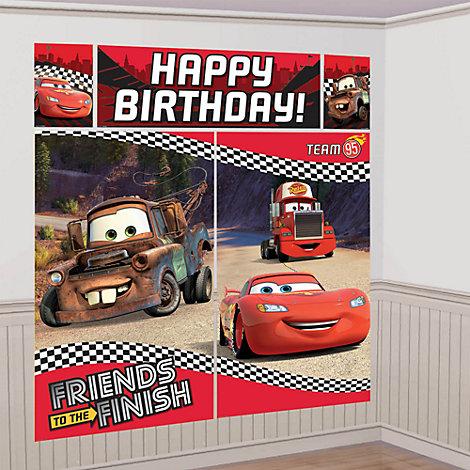 Decoraci¢n escena fiesta Disney Pixar Cars