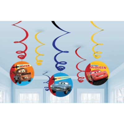 Disney Pixar Cars 6x Party Swirl Decorations
