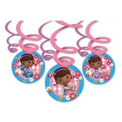 Doc McStuffins Party Swirl Decorations