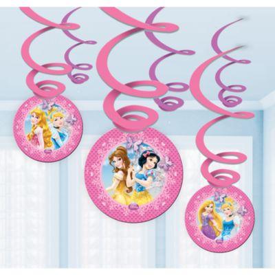 Adornos espirales fiesta princesa Disney
