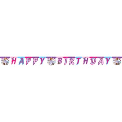 Sofia The First Happy Birthday Banner