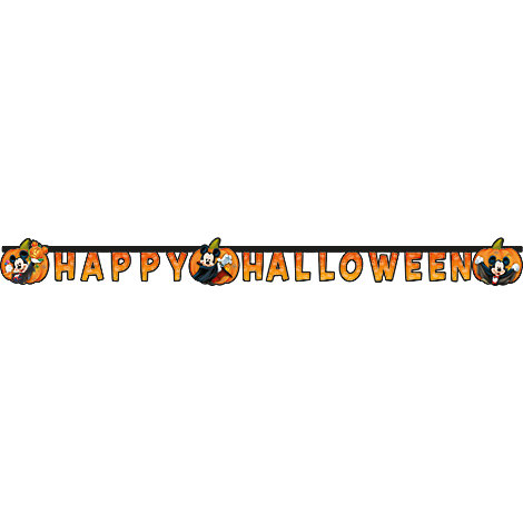 Mickey Mouse Happy Halloween Banner