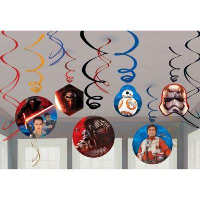 Star Wars: Das Erwachen der Macht - 6 x Partydekoration spiralförmig