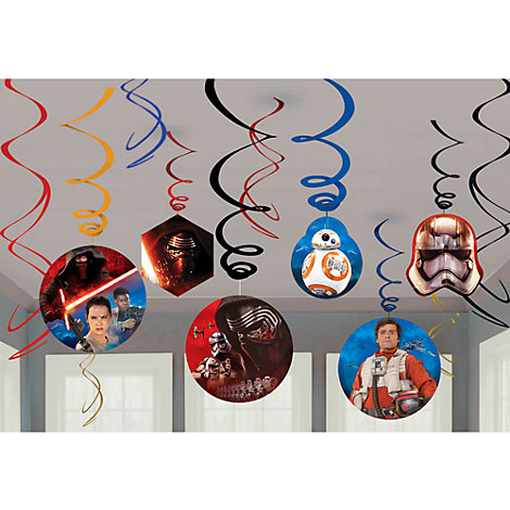 Star Wars: The Force Awakens 6x Party Swirl Decorations