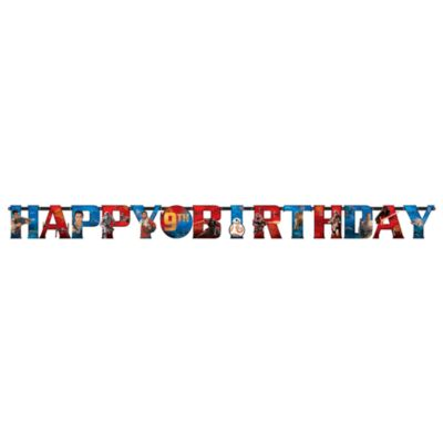 Star Wars: Il Risveglio della Forza, festone Happy birthday personalizzato