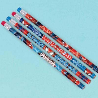 Lot de 12 crayons Spider-Man