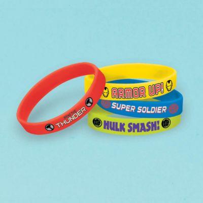 4 bracelets en caoutchouc Avengers
