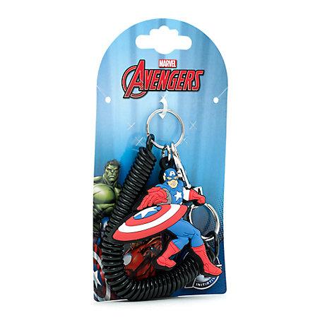 Captain America Spiral Key Ring