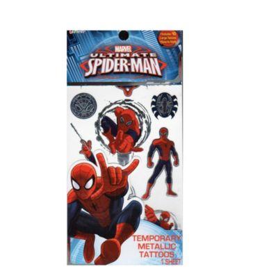 Spider-Man Temporary Metallic Tattoos