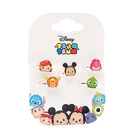 Tsum Tsum 5 Piece Ring Set