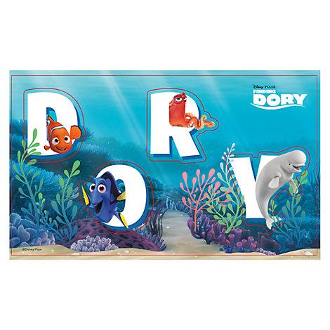 Findet Dorie - Buchstaben aufkleben Partyspiel