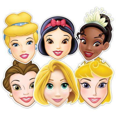 Lot de 6 masques Princesses Disney
