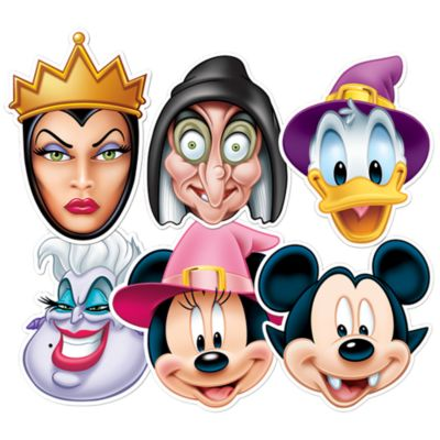 Mickey Mouse And Friends 6x Halloween Masks Set