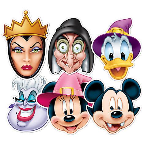 Lot de 6 masques Halloween Mickey Mouse et ses amis