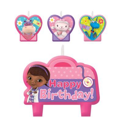 Doc McStuffins Spielzeugärztin - 4 x Geburtstagskerzen