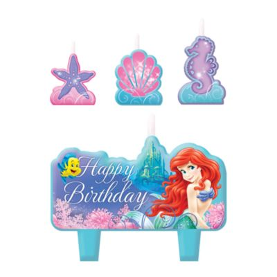 The Little Mermaid Birthday Candle Set