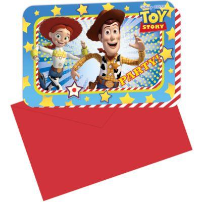 Ensemble de 6 invitations de fête Toy Story