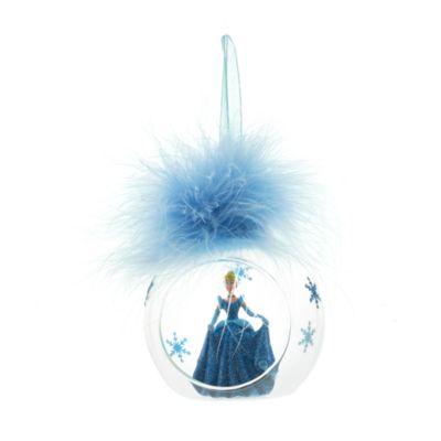 Disneyland Paris - Cinderella Weihnachtsbaumkugel mit Federschmuck