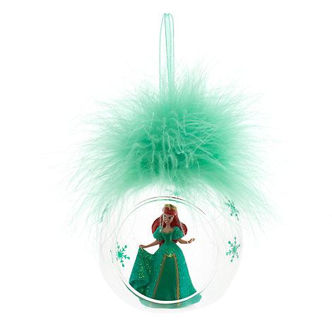 Palla di Natale con piuma Ariel, Disneyland Paris