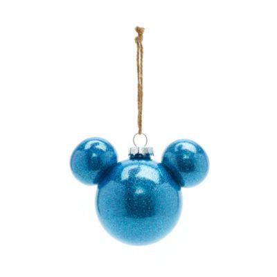 Bola Navidad Mickey Mouse azul, Disneyland Paris