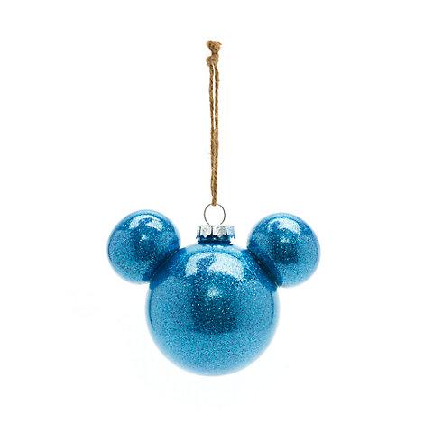 Disneyland Paris - Micky Maus Weihnachtsbaumkugel blau
