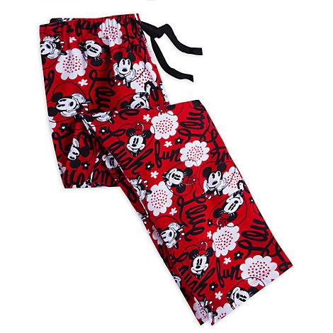 Pantaloni da pigiama donna Topolino e Minni