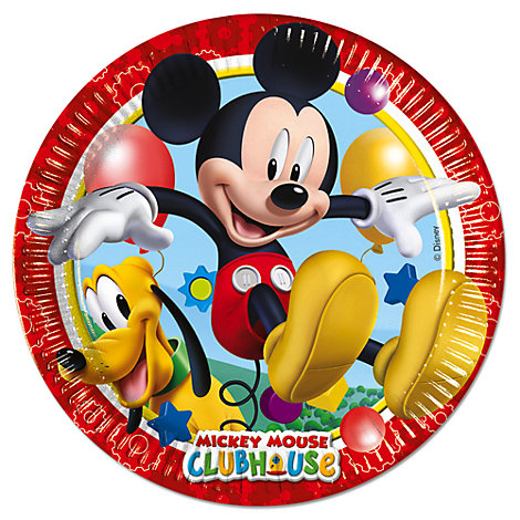 Mickey Mouse Party Plates, Set of 8