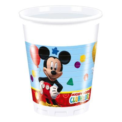 Bicchieri di plastica Topolino, confezione da 8