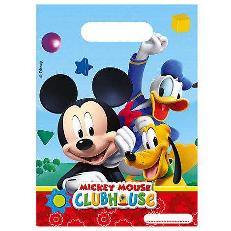 Mickey Mouse Party Bags, Pack of 6