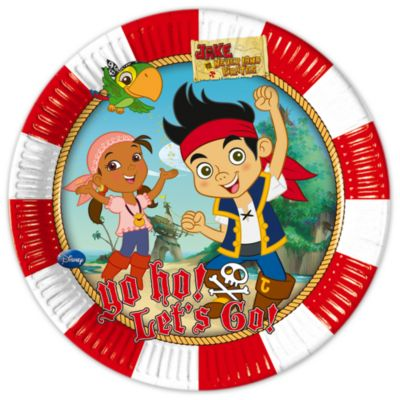 Jake and the Never Land Pirates 23cm Party Plates, Set of 8