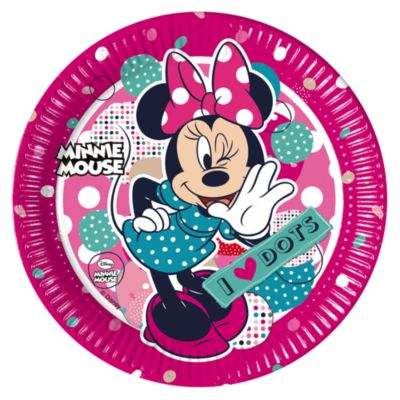 Minnie Mouse Party Plates, Set of 8