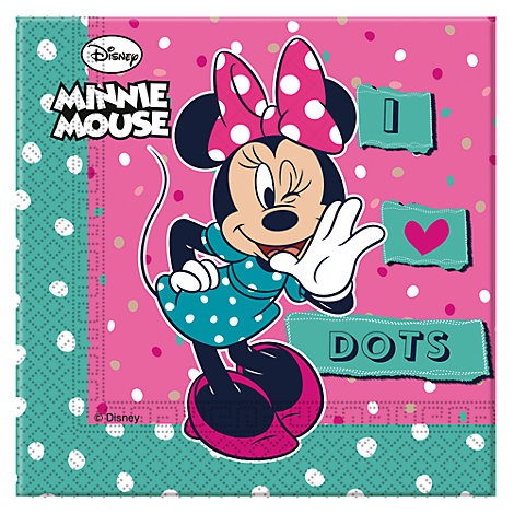 Minnie Mouse Party Napkins, Pack of 20