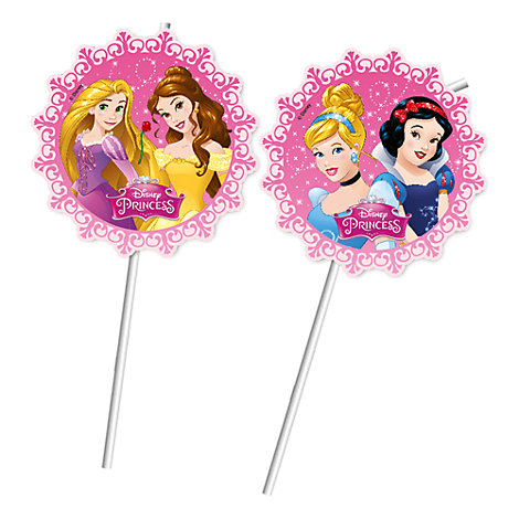 Disney Princess Bendy Straws, Set of 6