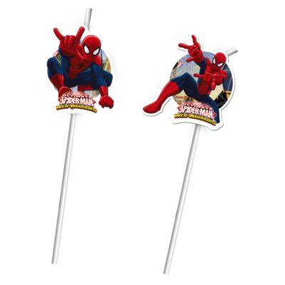 6 pailles flexibles Spider-Man