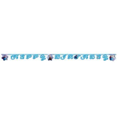 Festone Happy Birthday Frozen - Il Regno di Ghiaccio